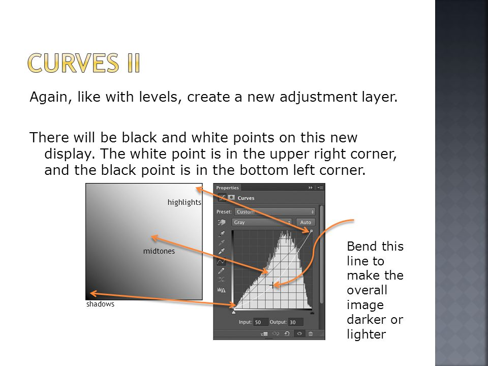 Again, like with levels, create a new adjustment layer.
