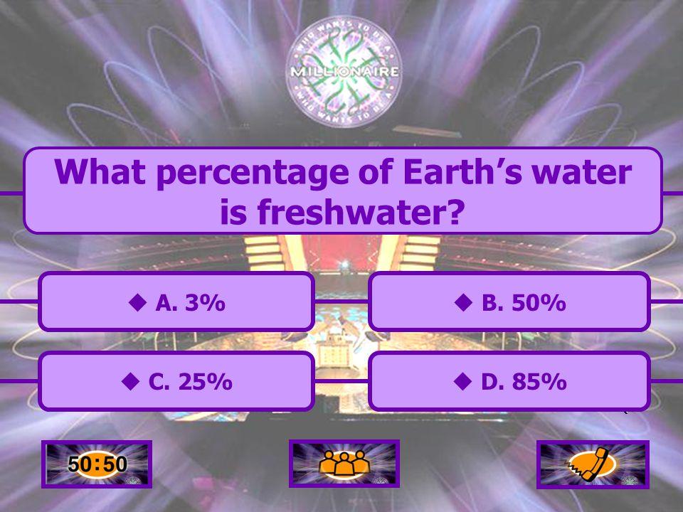  A.3% A. 3%  C. 25% C. 25%  B. 50% B. 50%  D.