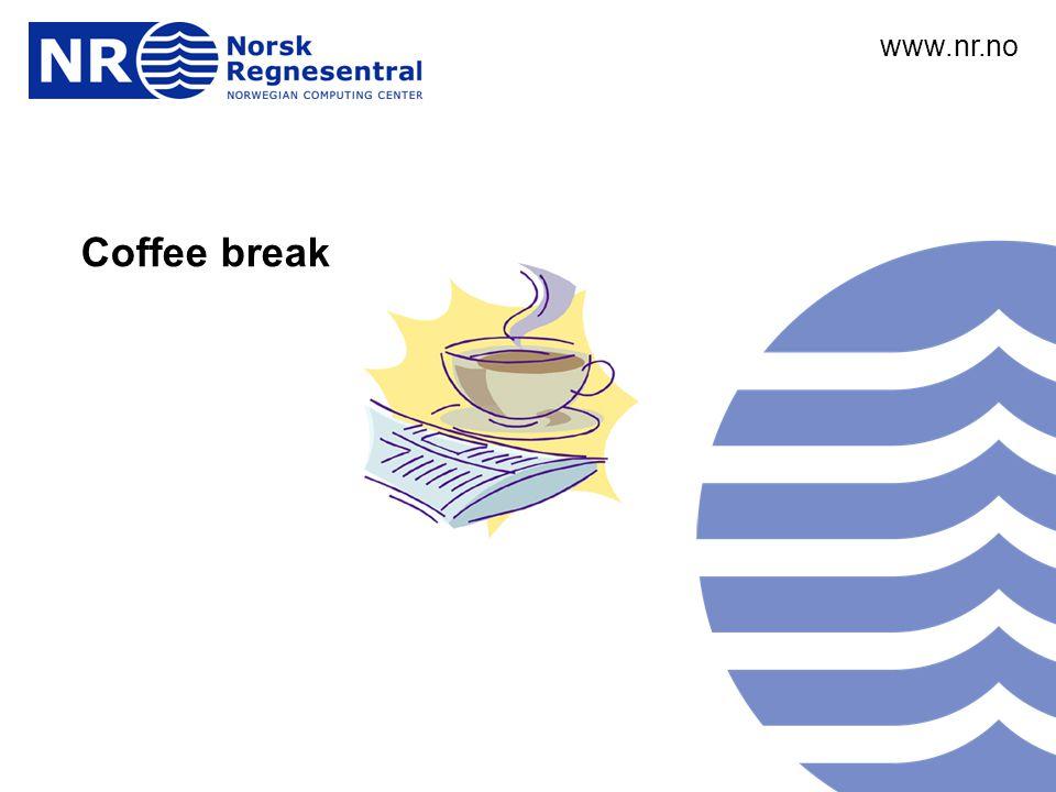 www.nr.no André Teigland Forskningssjef SAMBA www.nr.no Coffee break