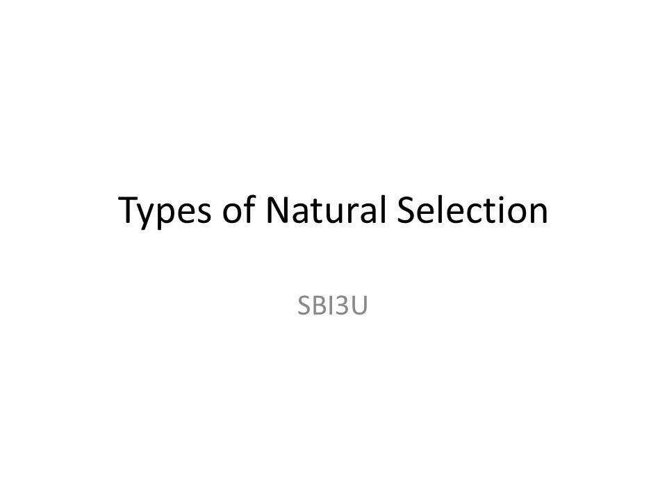 Types of Natural Selection SBI3U