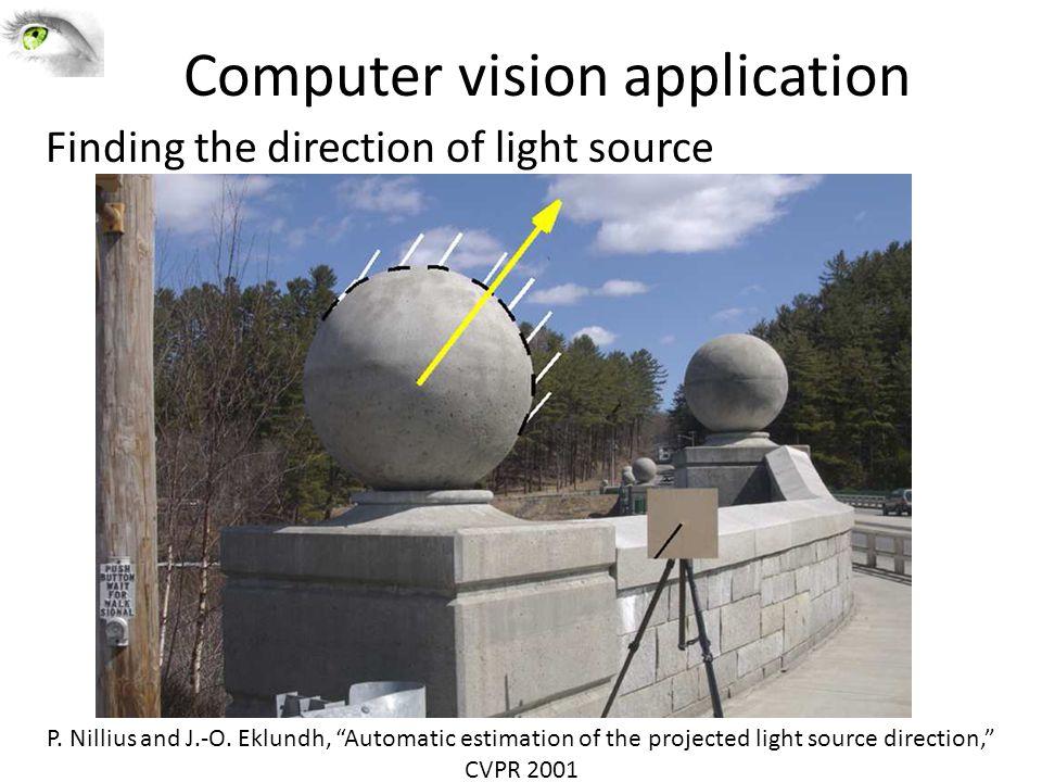 Computer vision application P. Nillius and J.-O.