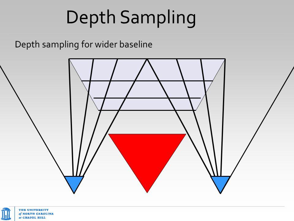 Depth Sampling Depth sampling for wider baseline