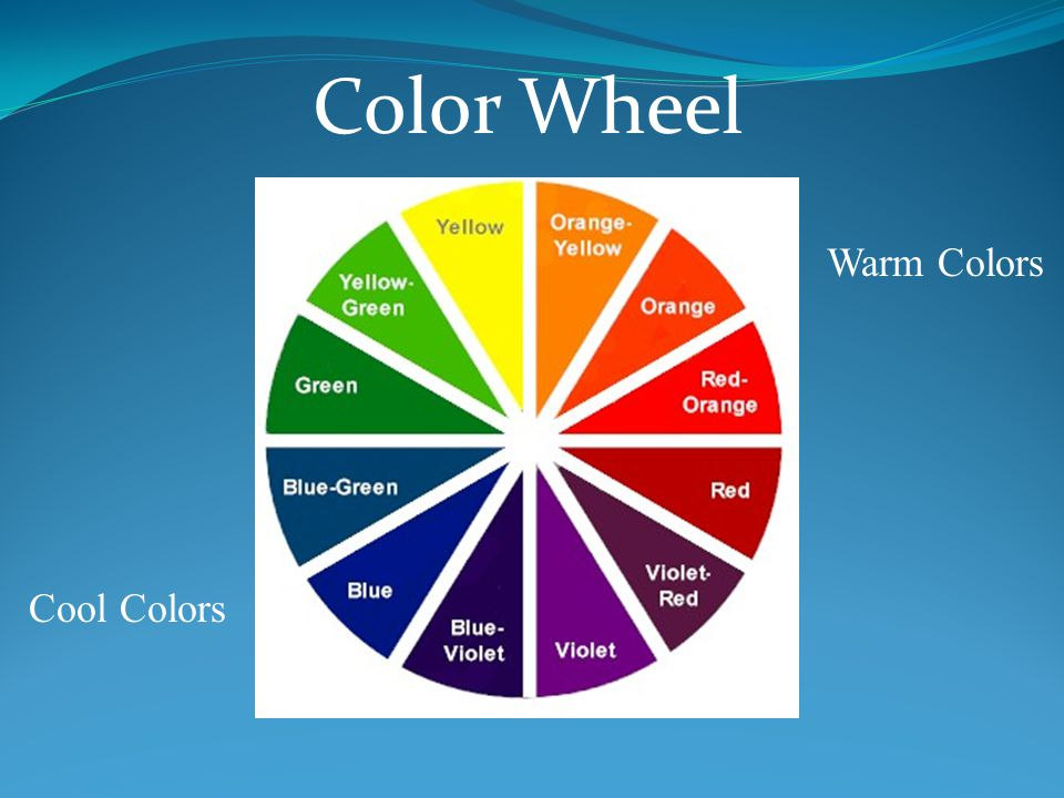 Color Wheel Warm Colors Cool Colors