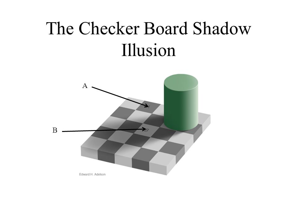 The Checker Board Shadow Illusion A B