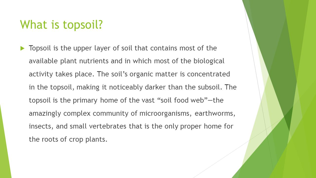 What is topsoil.