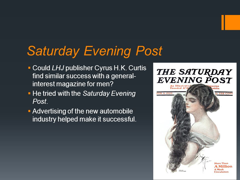 Saturday Evening Post  Could LHJ publisher Cyrus H.K.