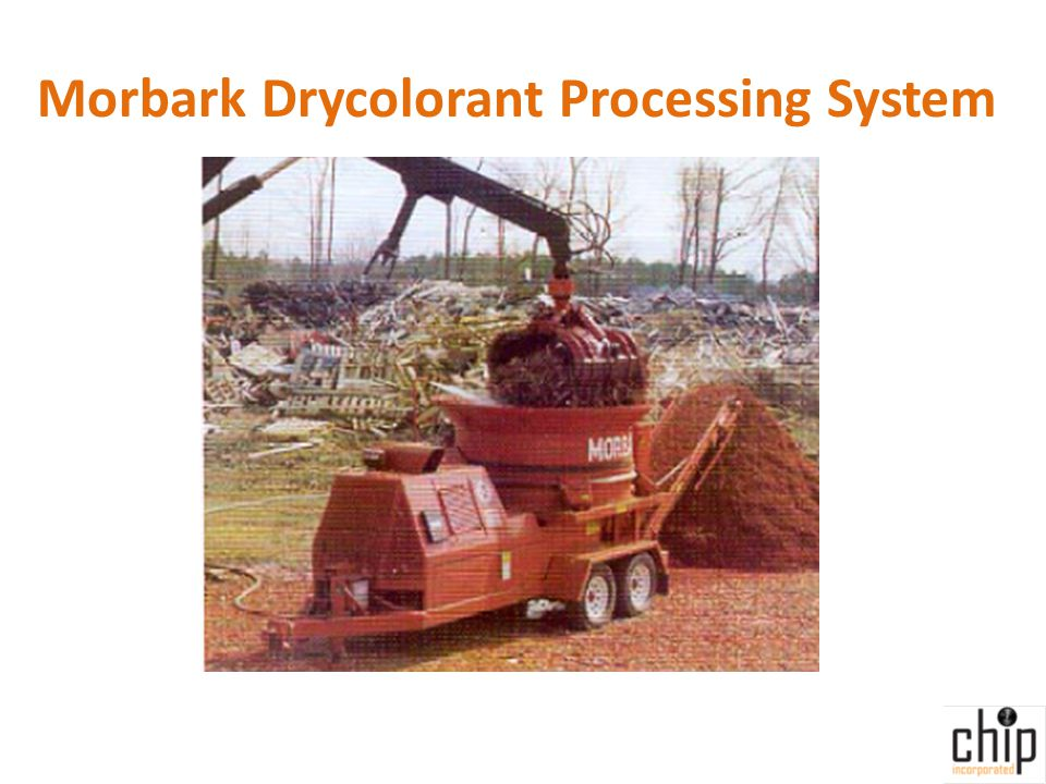 Morbark Drycolorant Processing System