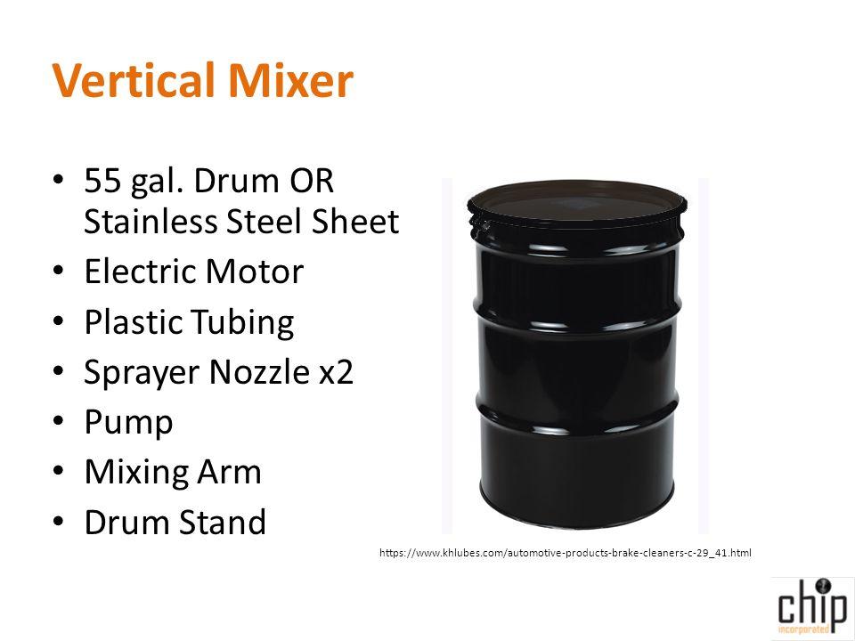 Vertical Mixer 55 gal.