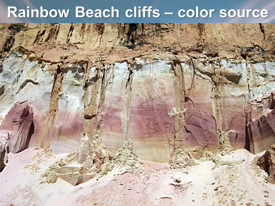 Rainbow Beach cliffs – color source