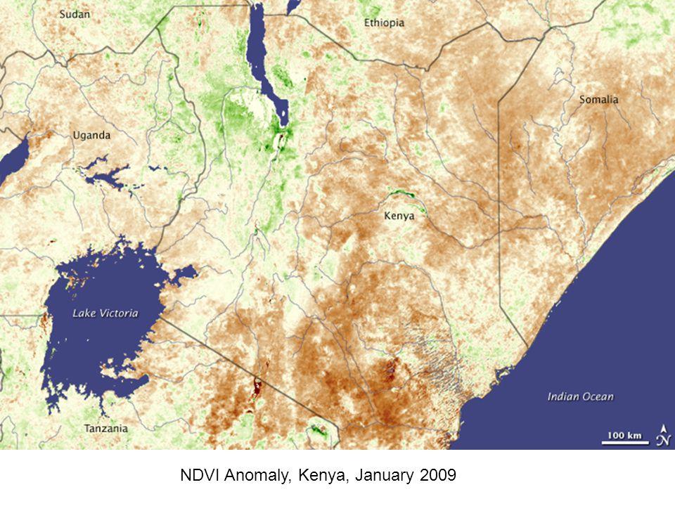 NDVI Anomaly, Kenya, January 2009