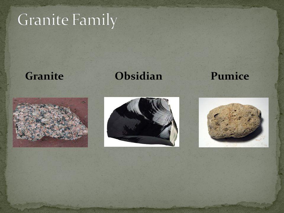 Granite Obsidian Pumice