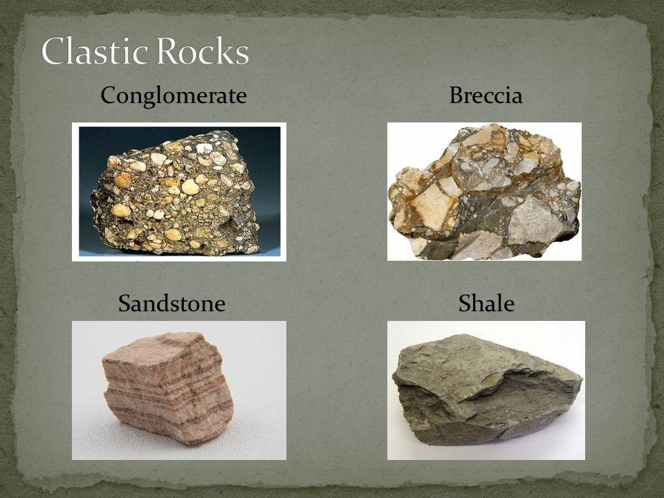 Conglomerate Breccia Sandstone Shale