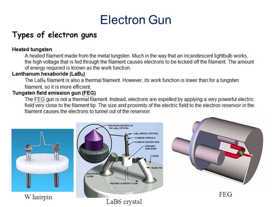 Electron Gun W hairpin LaB6 crystal FEG
