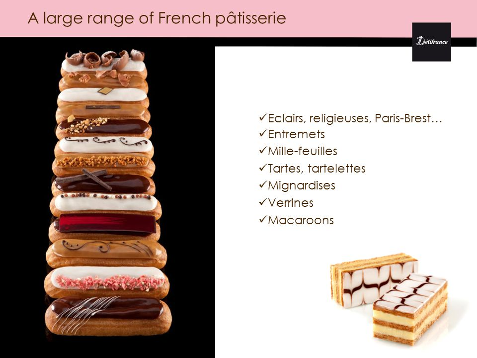 Puff pastries: baskets, croissants and specialities Ready to bake technology Growing savoury range