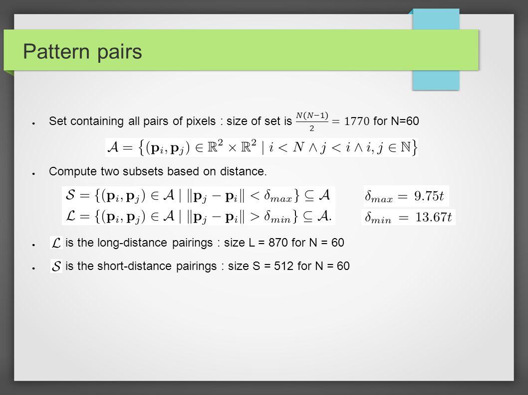 Pattern pairs