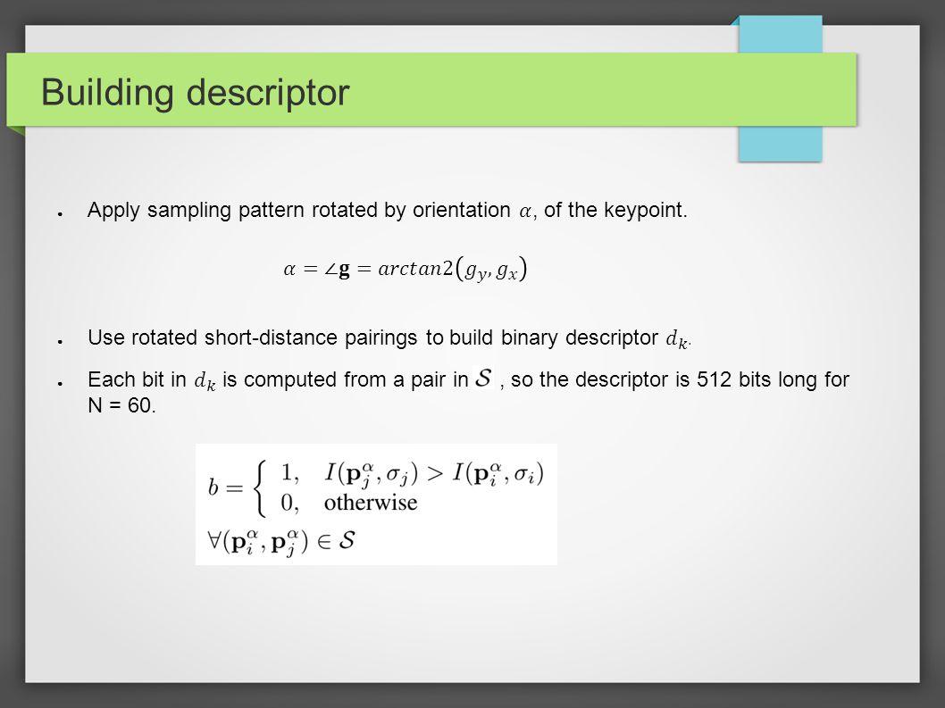 Building descriptor