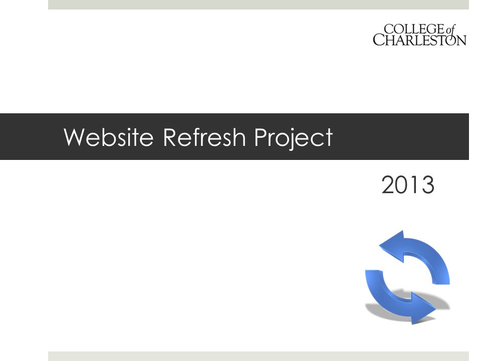 Website Refresh Project 2013