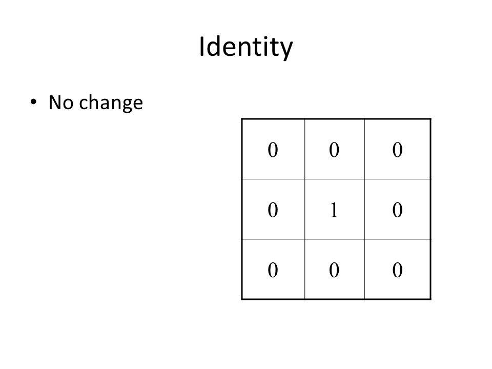 Identity No change 000 010 000