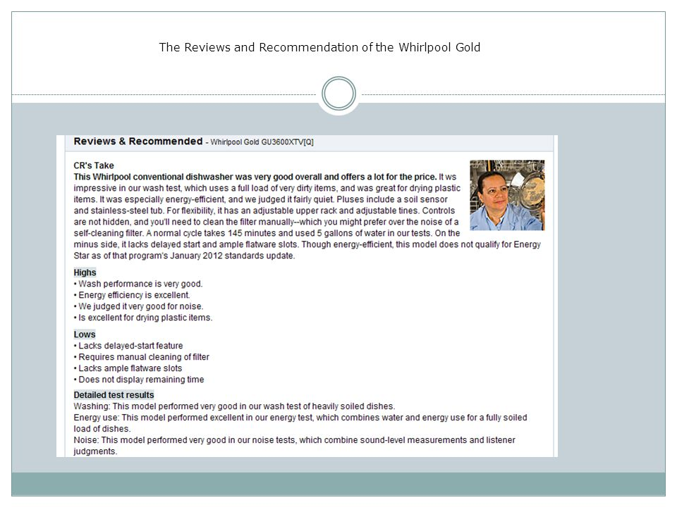The Reviews and Recommendation of the Whirlpool Gold