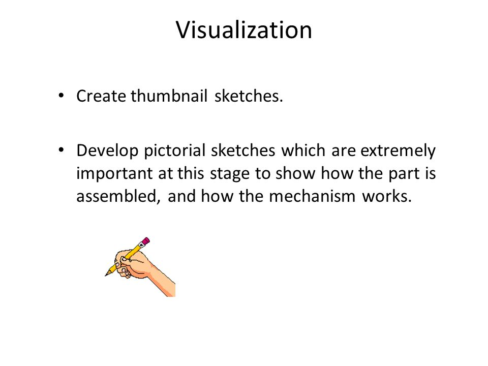Visualization Create thumbnail sketches.