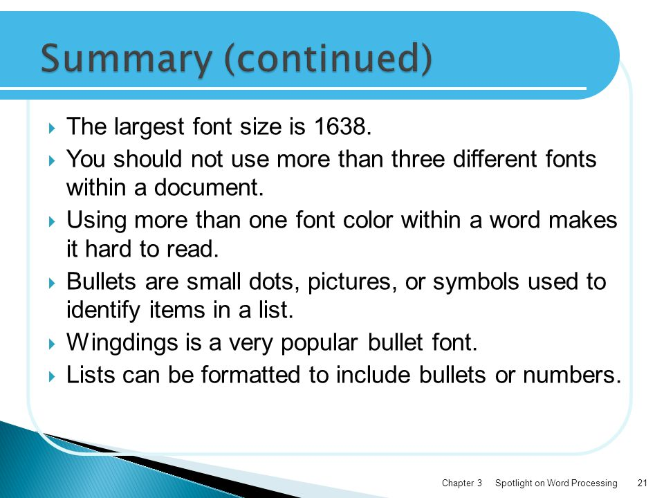  The largest font size is 1638.
