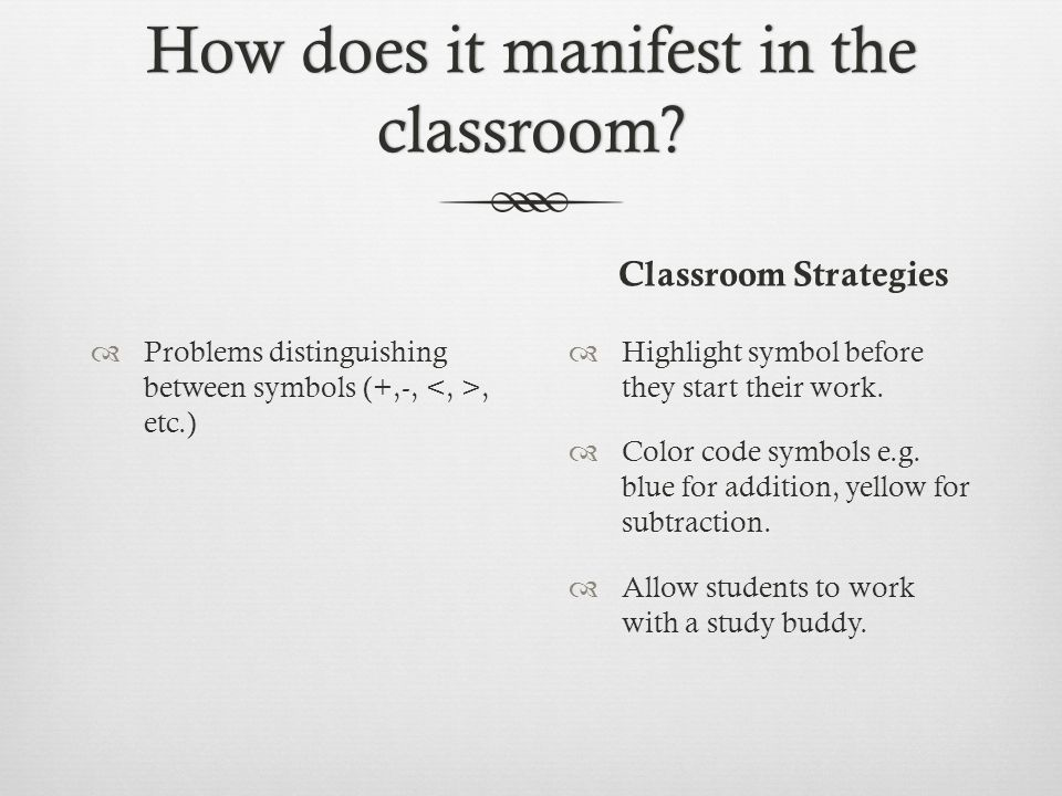 How does it manifest in the classroom.