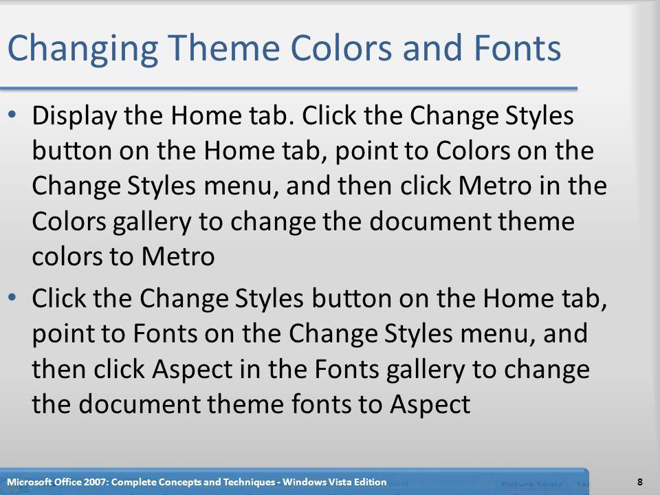 Inserting WordArt Display the Insert tab Click the WordArt button on the Insert tab to display the WordArt gallery Click WordArt style 1, the style in the upper-left corner of the WordArt gallery, to display the Edit WordArt Text dialog box Type Health Bits in the Text text box, as the WordArt text.