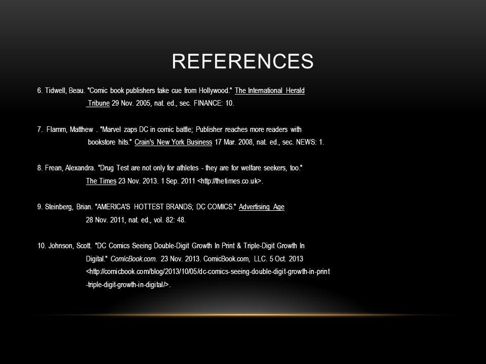 REFERENCES 6. Tidwell, Beau.