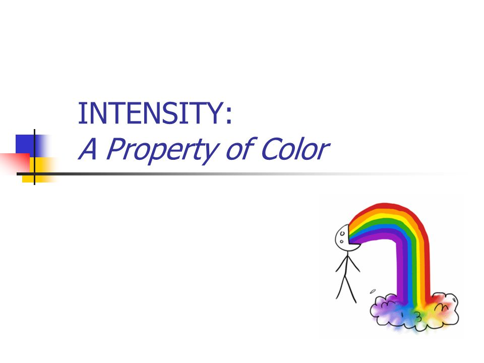 INTENSITY: A Property of Color