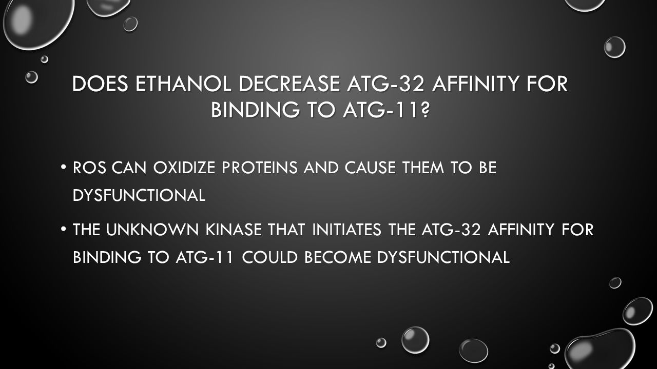 DOES ETHANOL DECREASE ATG-32 AFFINITY FOR BINDING TO ATG-11.