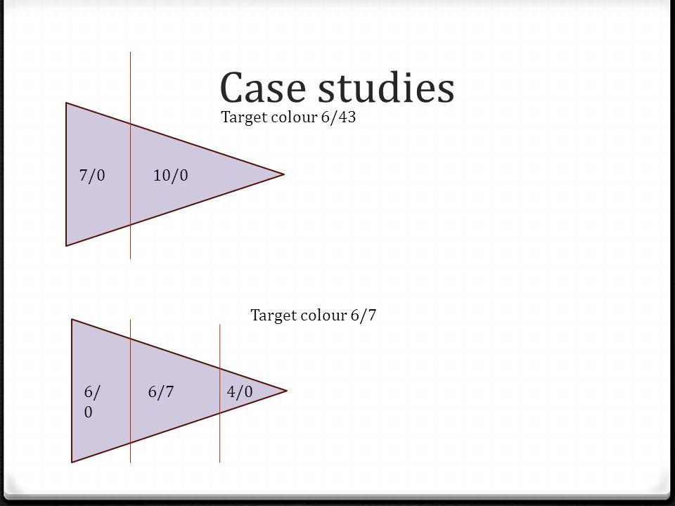 Case studies 7/010/0 Target colour 6/43 6/ 0 6/7 4/0 Target colour 6/7