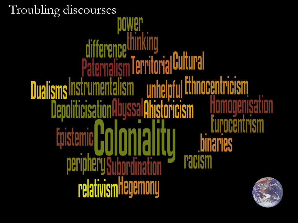 Troubling discourses