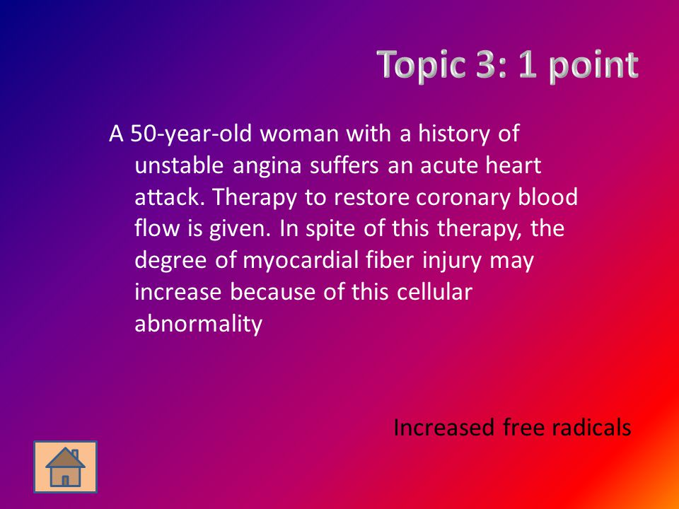A 50-year-old woman with a history of unstable angina suffers an acute heart attack. Therapy to restore coronary blood flow is given. In spite of this