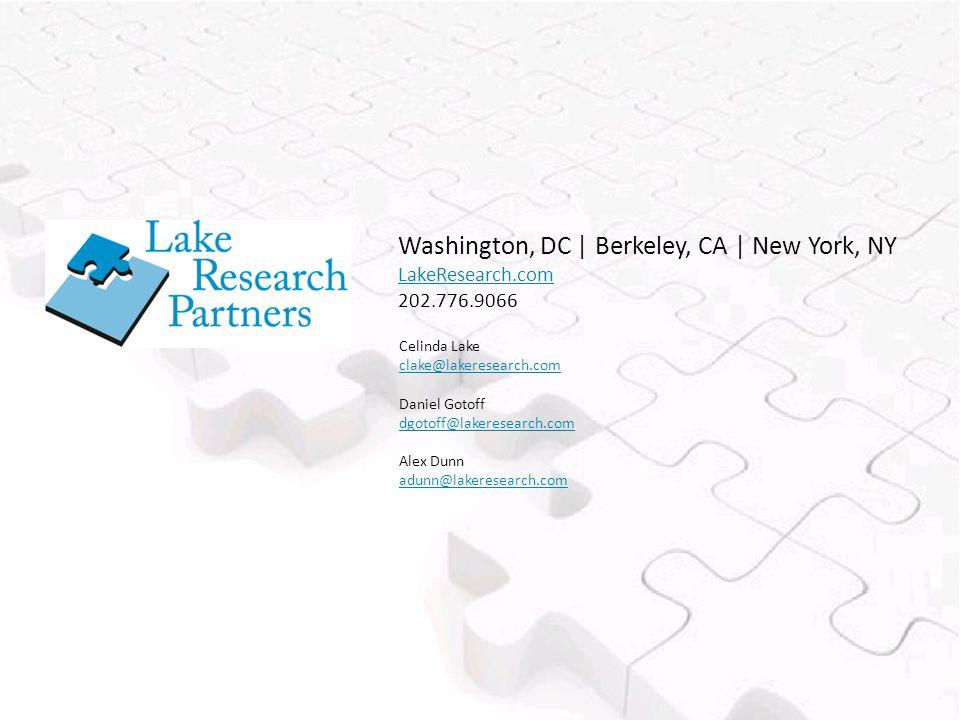 Celinda Lake clake@lakeresearch.com Daniel Gotoff dgotoff@lakeresearch.com Alex Dunn adunn@lakeresearch.com Washington, DC | Berkeley, CA | New York, NY LakeResearch.com 202.776.9066