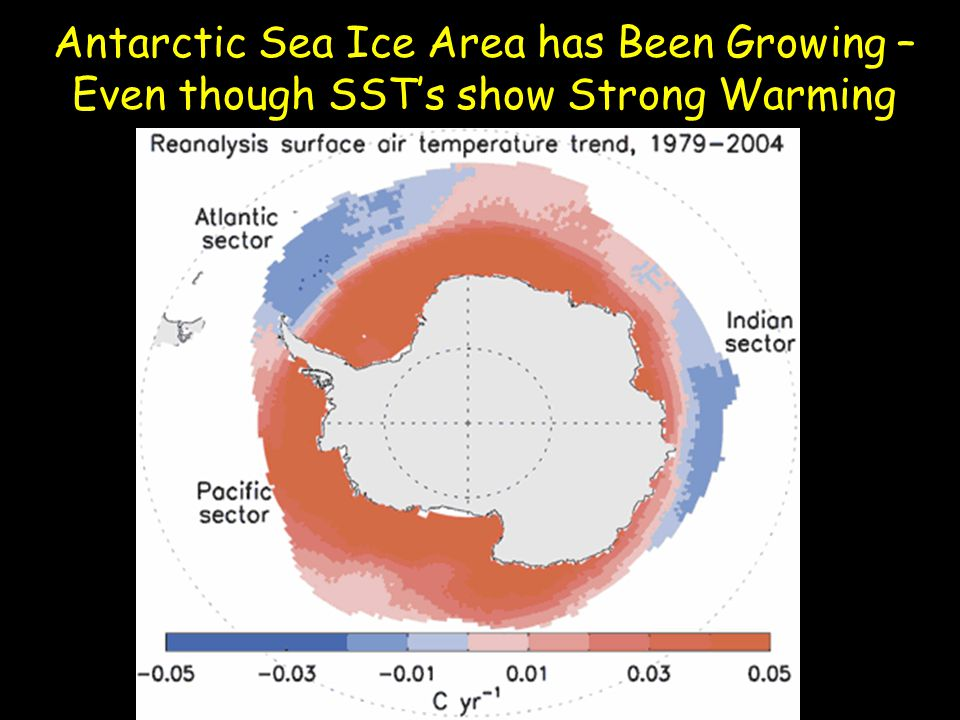 Antarctic Sea Ice Area has Been Growing – Even though SST's show Strong Warming