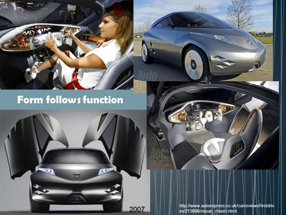 http://www.autoexpress.co.uk/carreviews/firstdriv es/213666/nissan_mixim.html 2007 Form follows function
