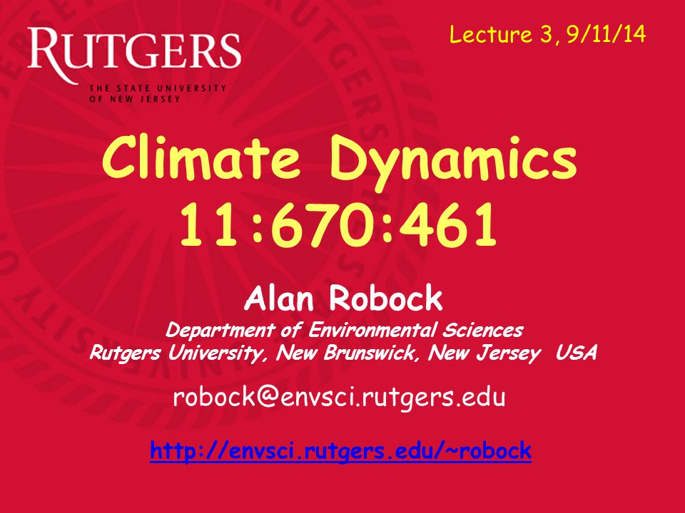 Alan Robock Department of Environmental Sciences Fig. 2.3 (m)