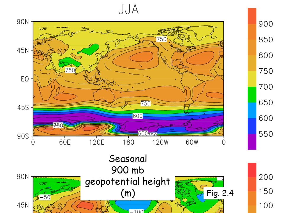 Alan Robock Department of Environmental Sciences Seasonal 900 mb geopotential height (m) Fig. 2.4