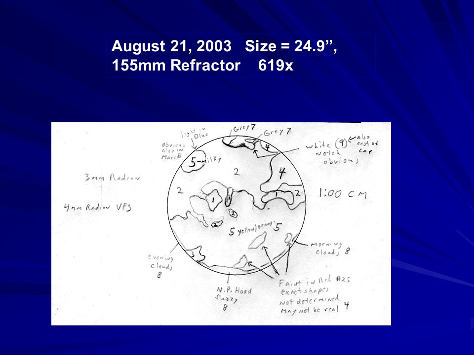 """August 21, 2003 Size = 24.9"""", 155mm Refractor 619x"""