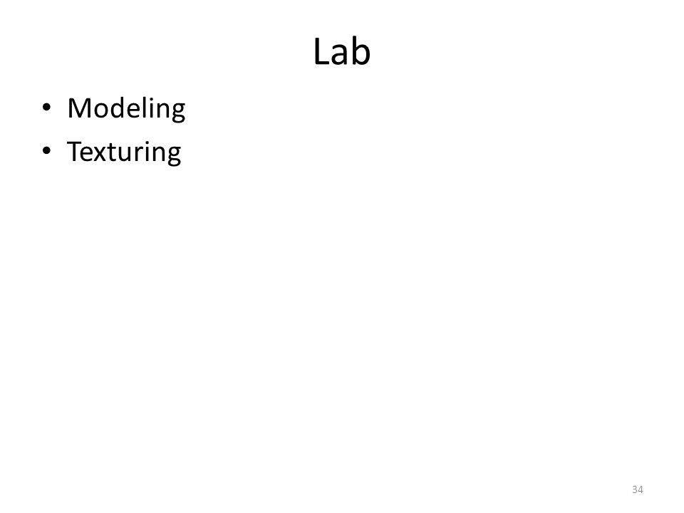 Lab Modeling Texturing 34