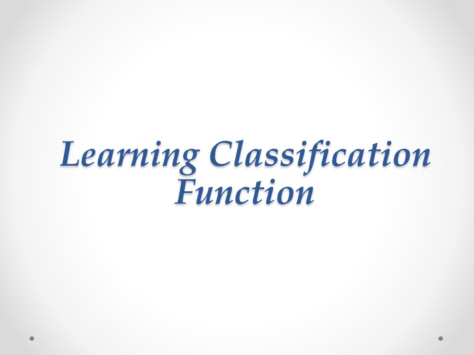 Very small number of features can form an effective classifier Select best classifier feature Weak classifier