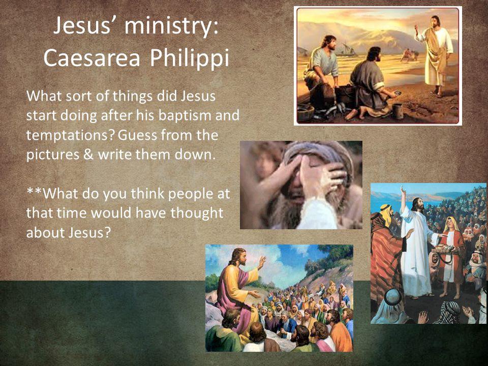 Caesarea Philippi is a bustling Roman city.