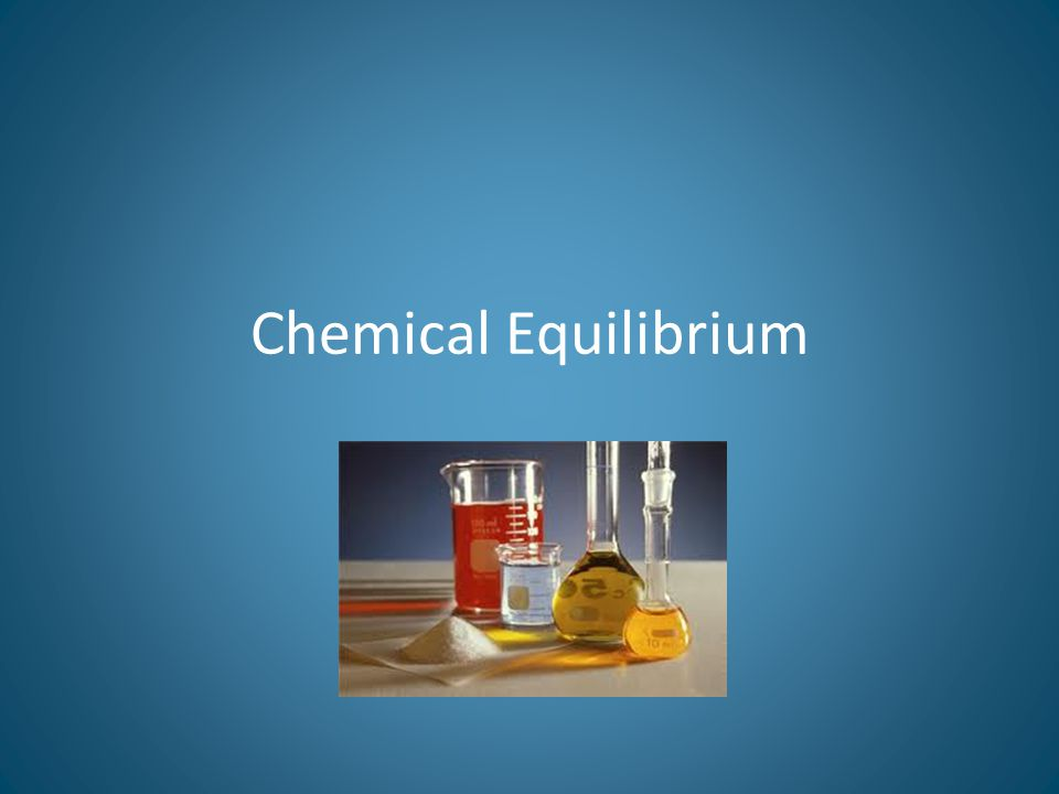 A chemical reaction is said to be in equilibrium if the reactants react together to form the products, and the products then react together to form the reactants and these two processes are equal in their rates.