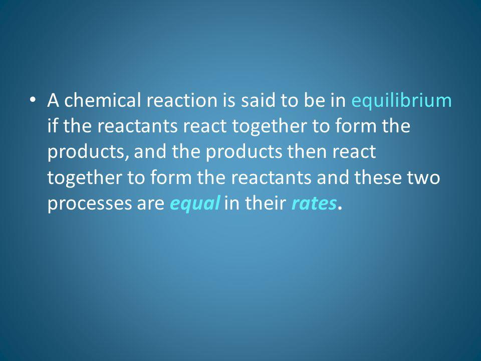 Factors That Can Modify Chemical Equilibrium: 3.