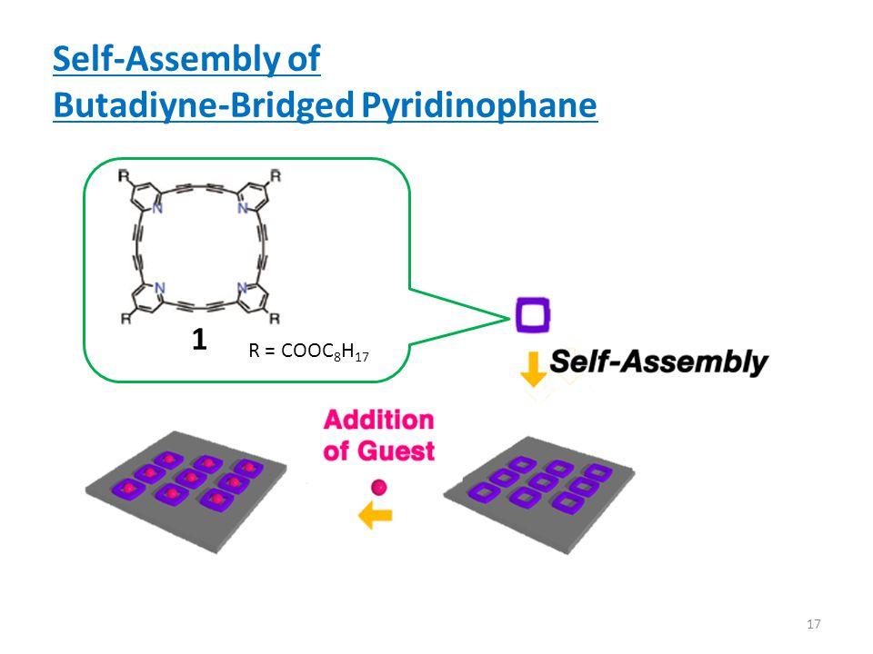 Self-Assembly of Butadiyne-Bridged Pyridinophane 17 R = COOC 8 H 17 1