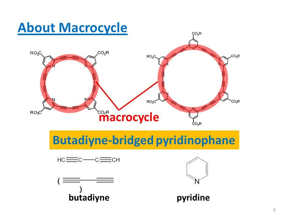About Macrocycle pyridinebutadiyne Butadiyne-bridged pyridinophane ( ) macrocycle 6