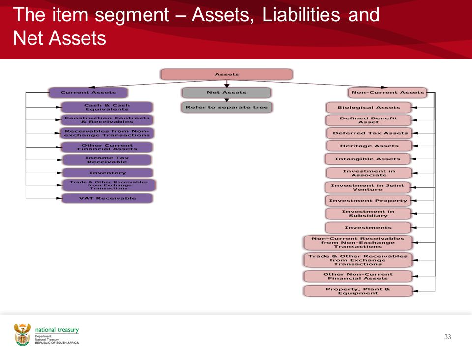 The item segment – Assets, Liabilities and Net Assets 33
