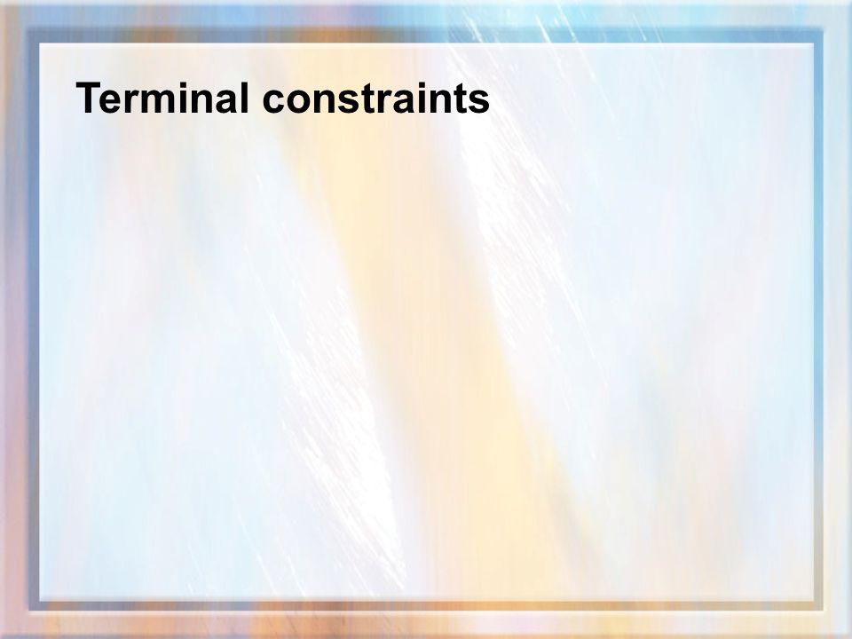 Terminal constraints