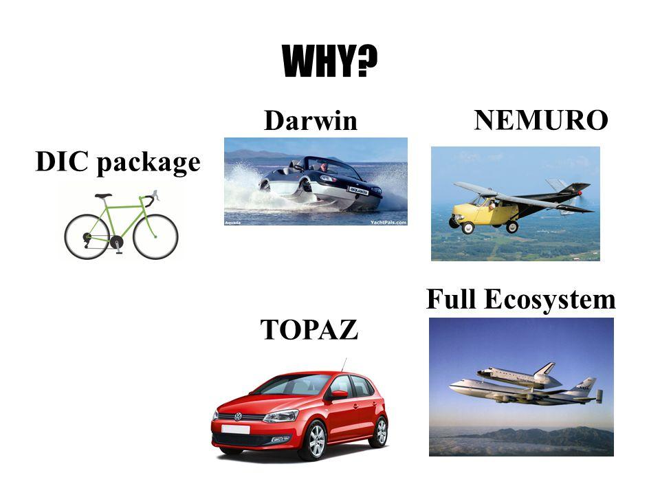WHY DIC package TOPAZ Darwin NEMURO Full Ecosystem