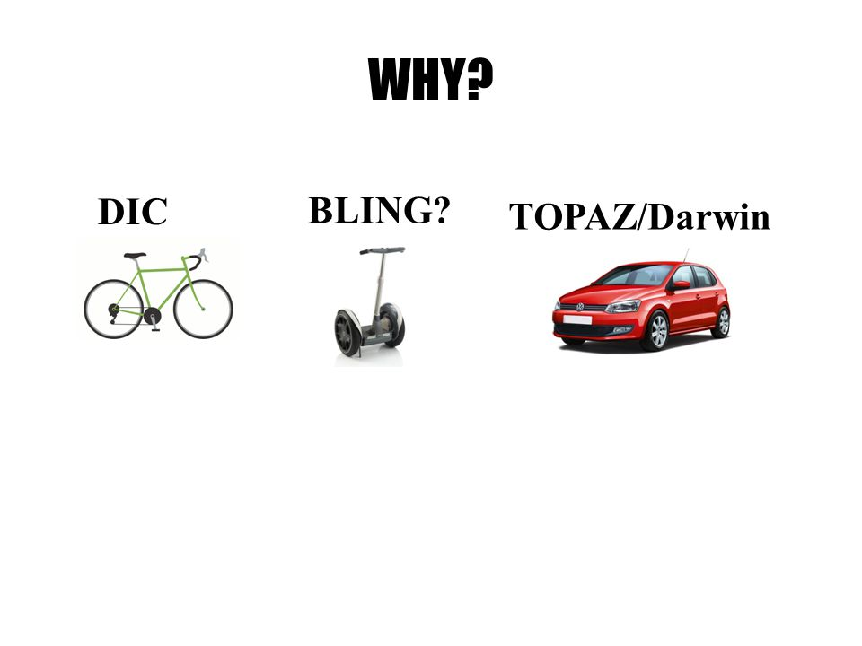WHY? BLING? DIC TOPAZ/Darwin